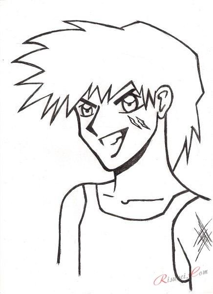 Картинки для срисовки поэтапно аниме (14)