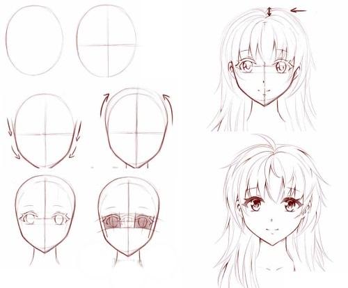 Картинки для срисовки поэтапно аниме (16)