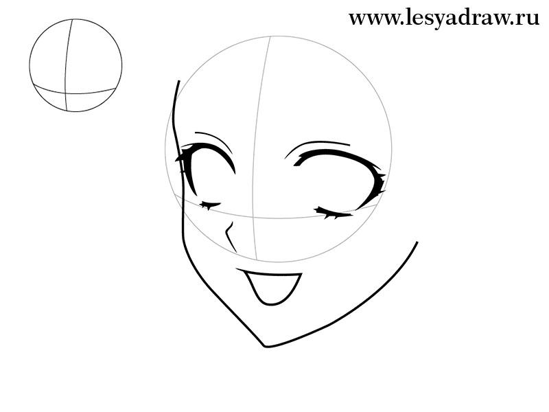 Картинки для срисовки поэтапно аниме (18)
