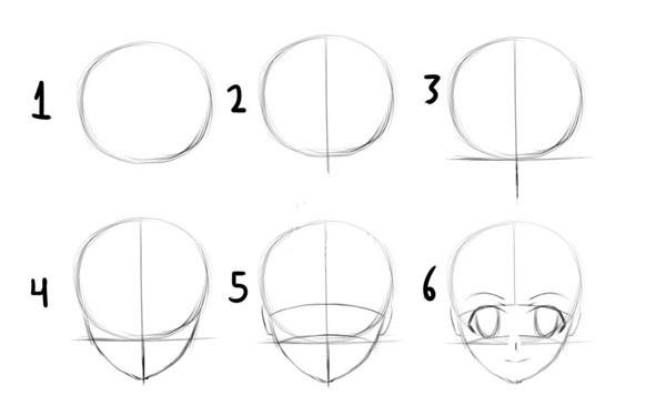 Картинки для срисовки поэтапно аниме (21)