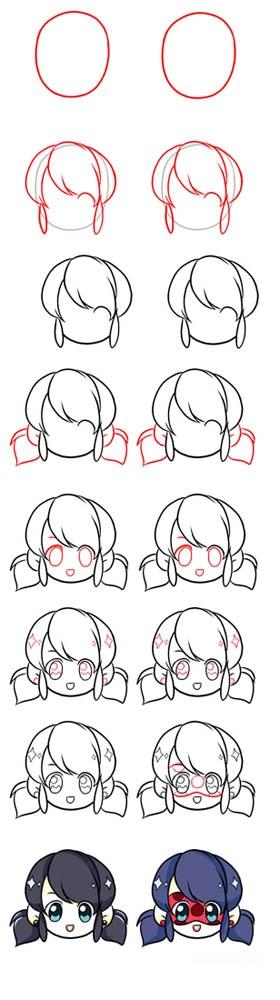 Картинки для срисовки поэтапно аниме (7)