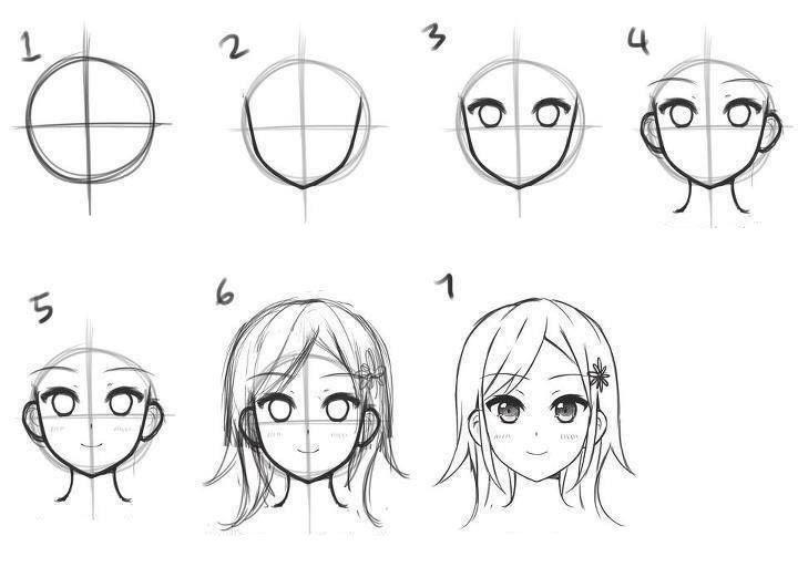 Картинки для срисовки поэтапно аниме (9)