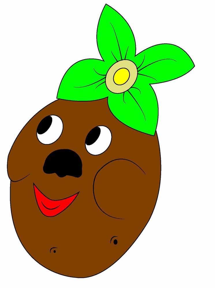 Картинки картошки для детей цветные (12)