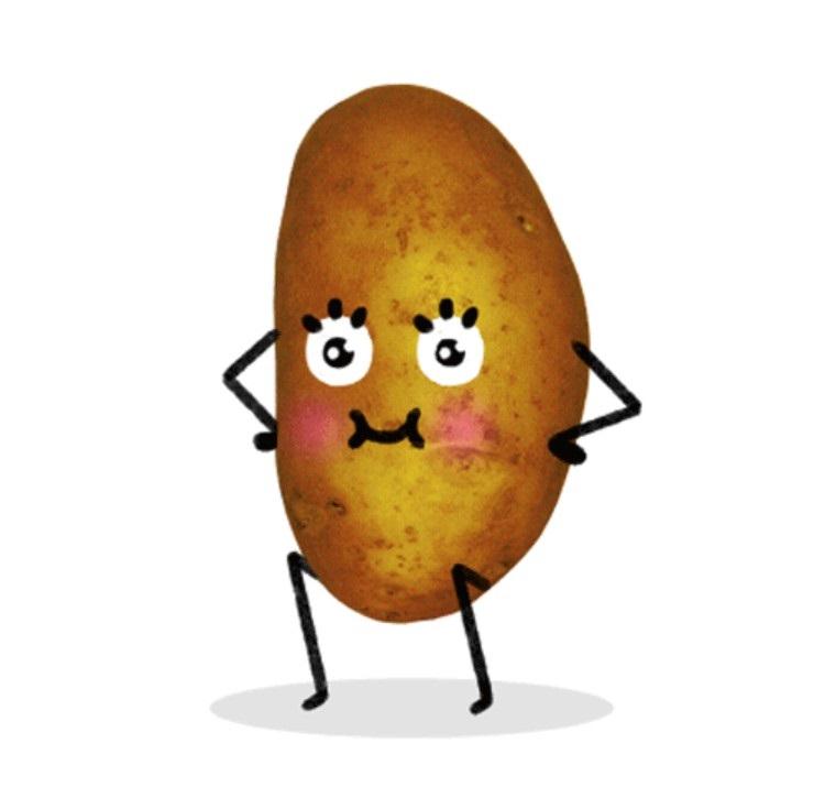 Картинки картошки для детей цветные (19)