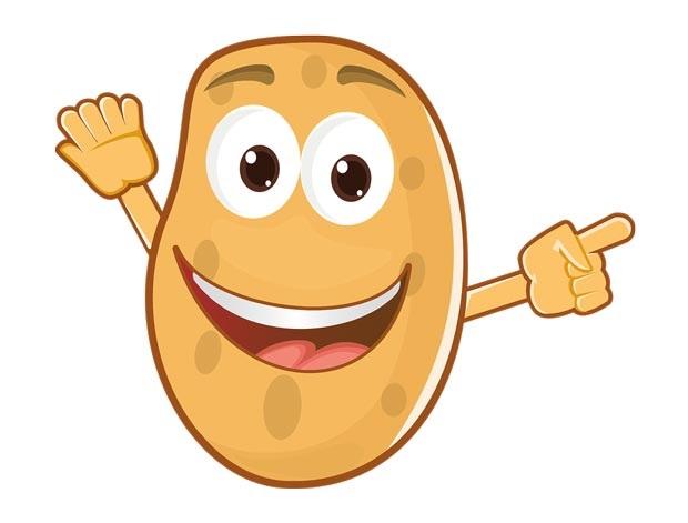 Картинки картошки для детей цветные (22)