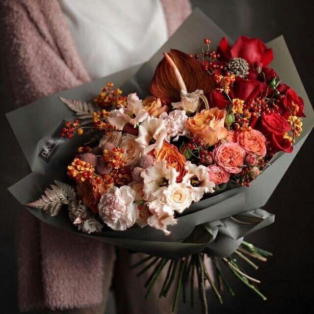 Картинки осенние букеты из цветов (30)