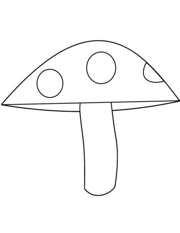 Картинки раскраски мухомора для детей (12)