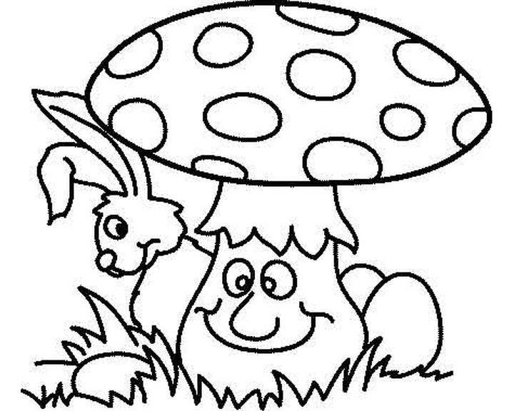 Картинки раскраски мухомора для детей (17)