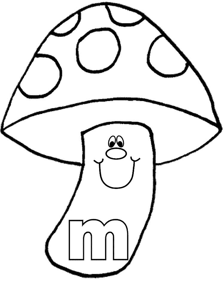 Картинки раскраски мухомора для детей (19)