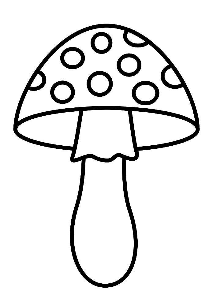Картинки раскраски мухомора для детей (22)