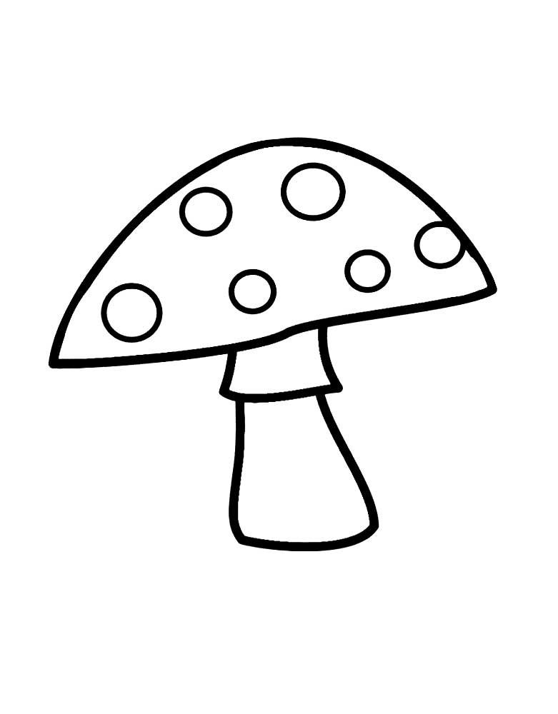 Картинки раскраски мухомора для детей (4)