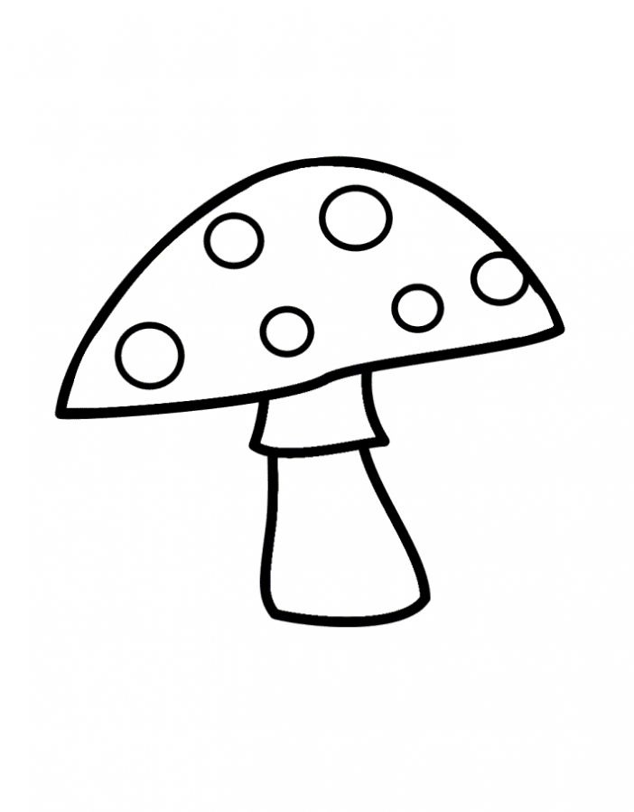 Картинки раскраски мухомора для детей (6)
