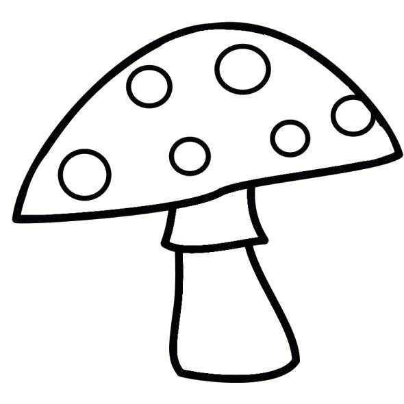 Картинки раскраски мухомора для детей (8)