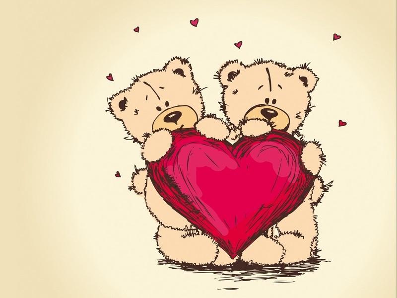 Картинки с мишками про любовь (1)