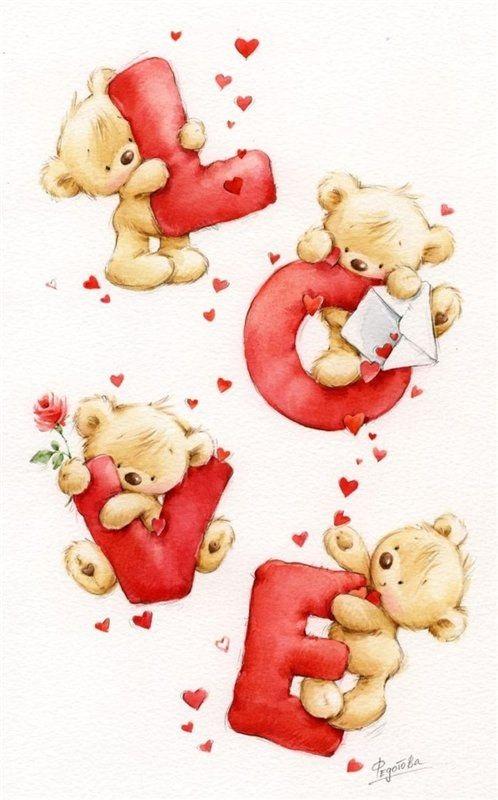 Картинки с мишками про любовь (24)