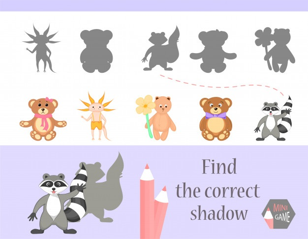 Картинки тени животных для детей (1)