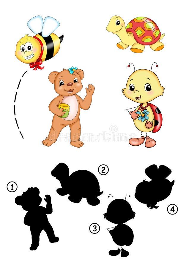 Картинки тени животных для детей (14)