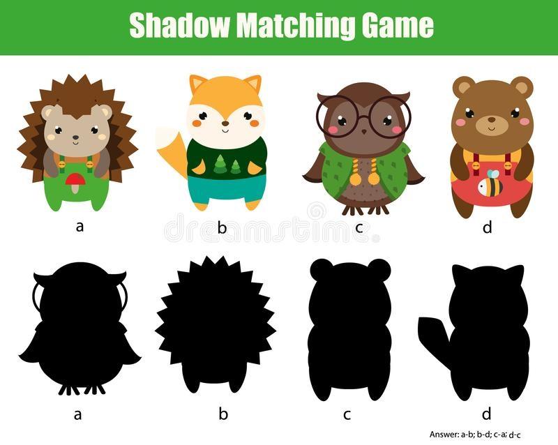 Картинки тени животных для детей (18)