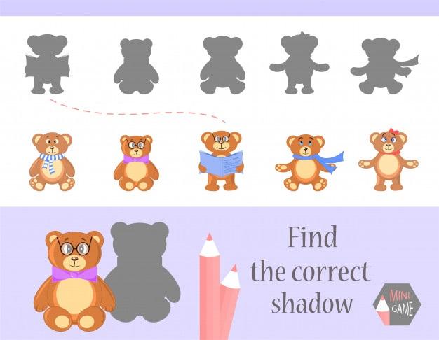 Картинки тени животных для детей (2)