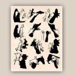 Картинки тени животных для детей