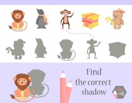 Картинки тени животных для детей (9)