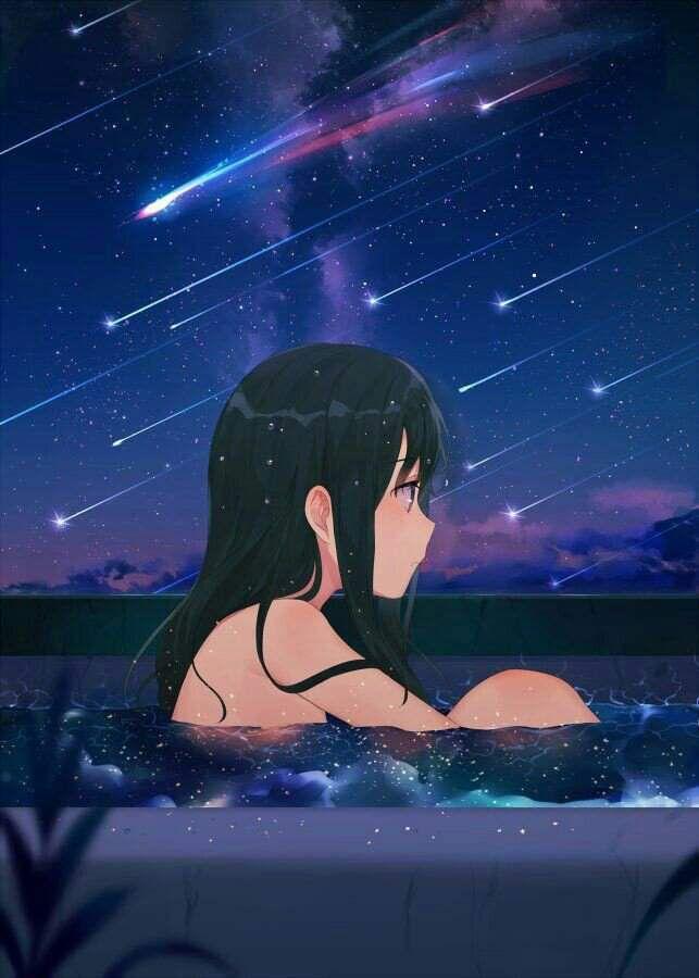 Красивые девушки аниме со спины картинки (10)