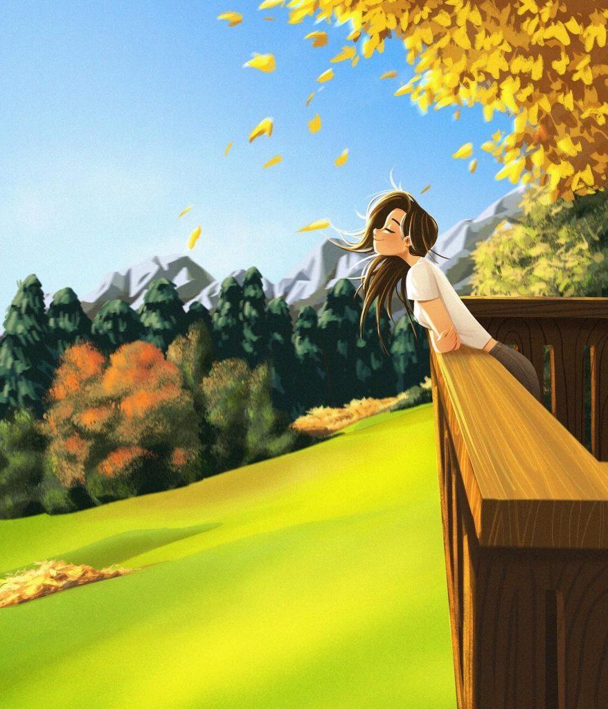 Красивые девушки аниме со спины картинки (13)