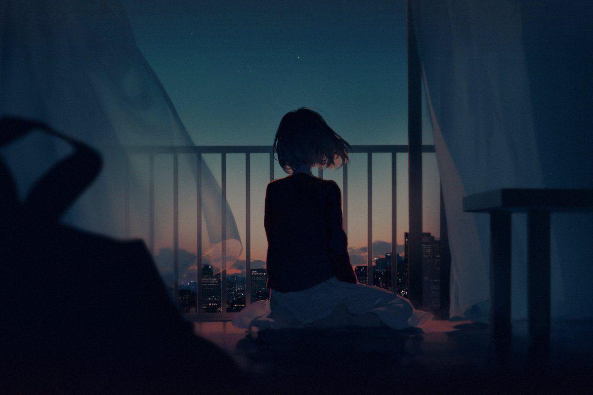 Красивые девушки аниме со спины картинки (4)