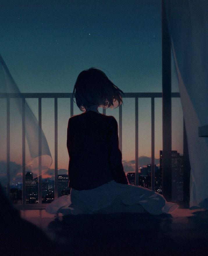 Красивые девушки аниме со спины картинки (9)
