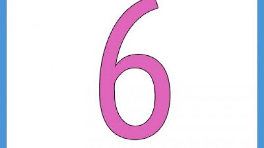 Красивые картинки цифры 6 для детей (12)