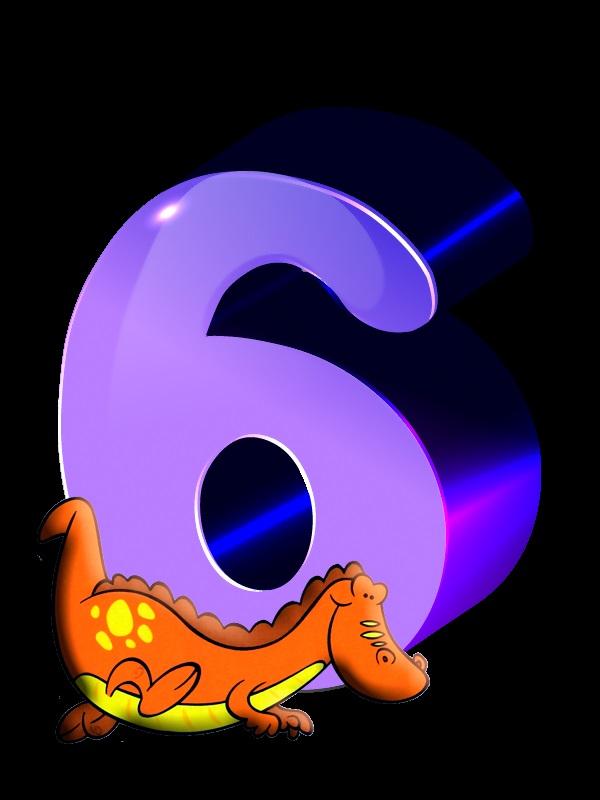 Красивые картинки цифры 6 для детей (5)