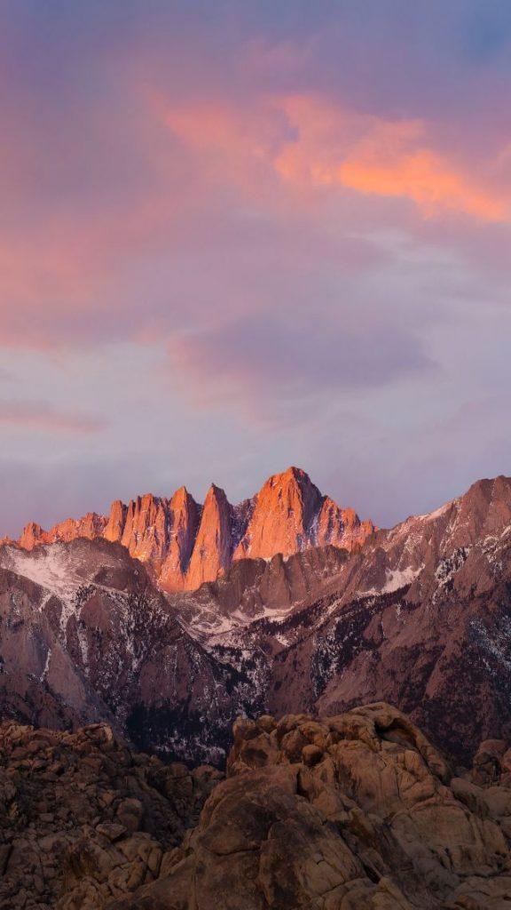 Красивые обои горы для заставки телефона - подборка (20)
