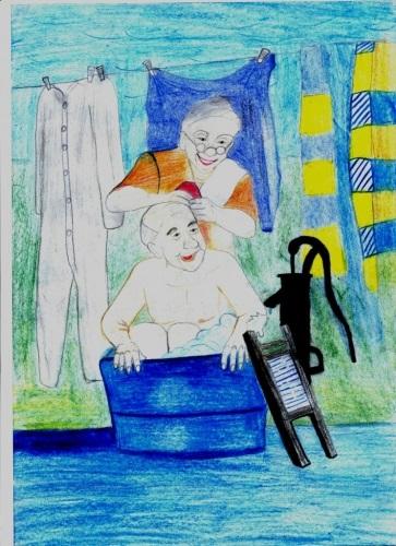 Красивые рисунки для дня пожилого человека (16)