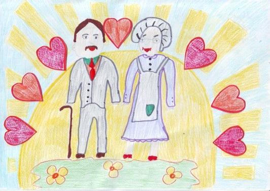 Красивые рисунки для дня пожилого человека (17)