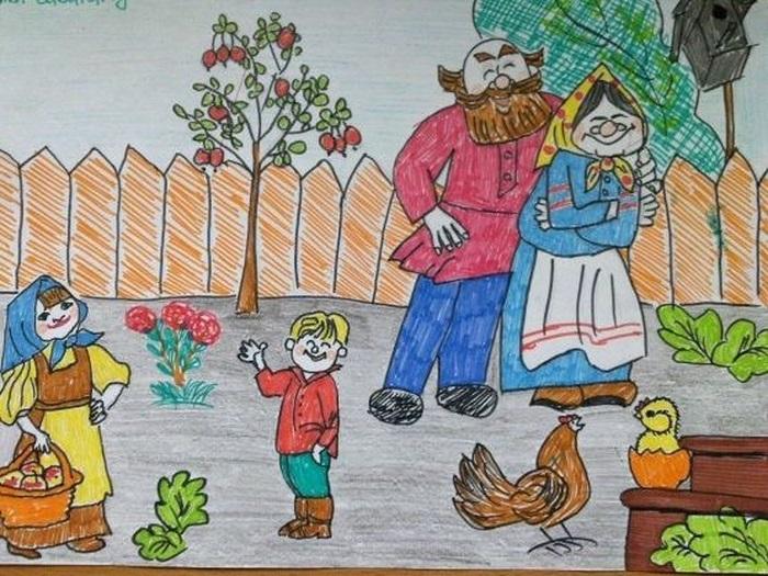 Красивые рисунки для дня пожилого человека (9)