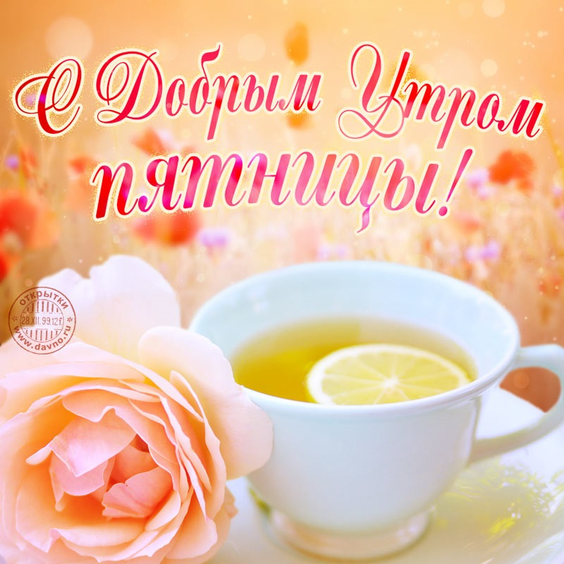 Лучшие открытки с добрым утром пятница (1)