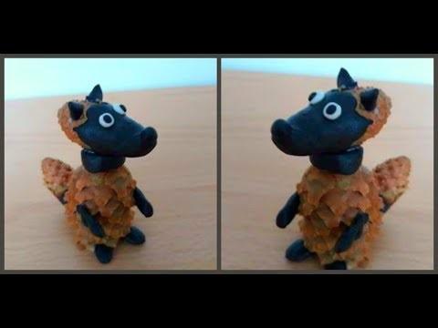 Осенние подделки волка для детей (13)