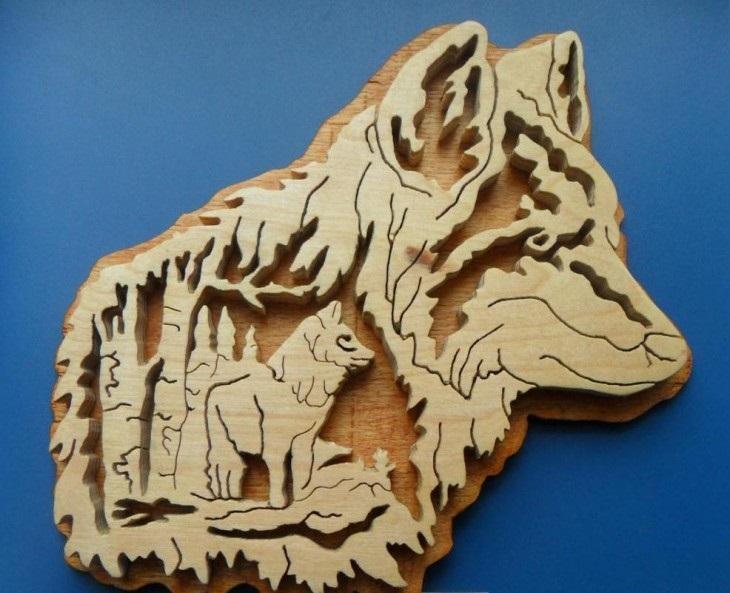 Осенние подделки волка для детей (19)
