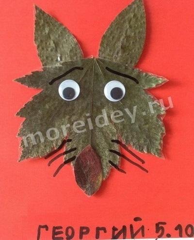 Осенние подделки волка для детей (4)