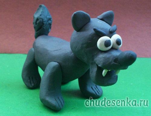 Осенние подделки волка для детей (5)