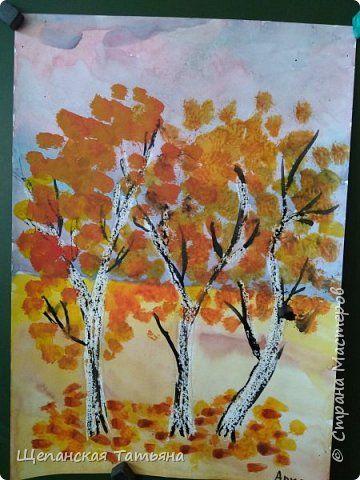 Осенняя береза картинка для детей (11)