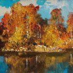 Осенняя береза картинка для детей