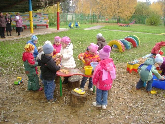 Прогулки в детском саду картинки (10)