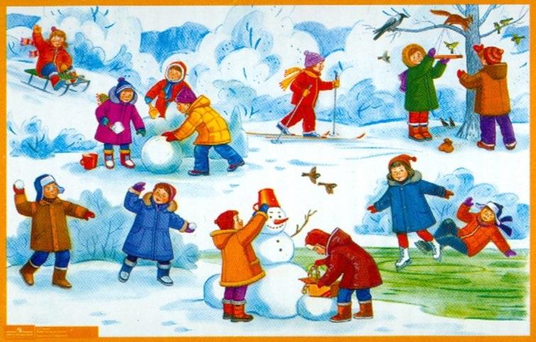 Прогулки в детском саду картинки (13)