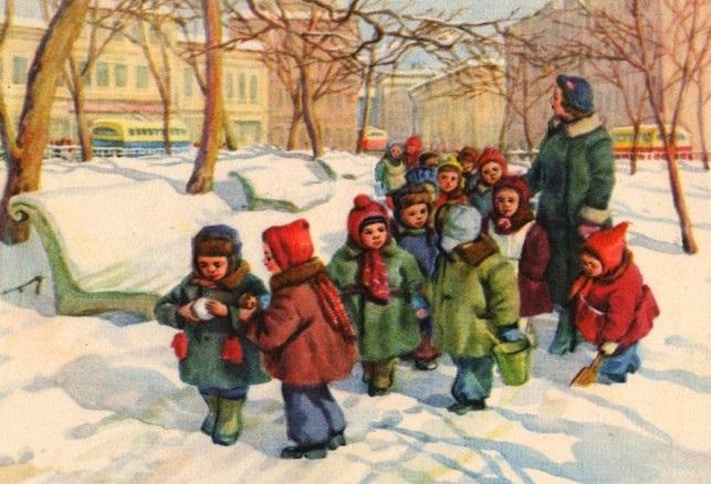 Прогулки в детском саду картинки (16)