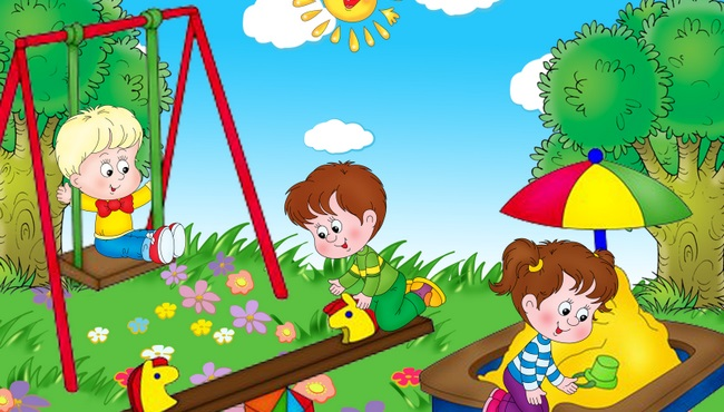 Прогулки в детском саду картинки (18)