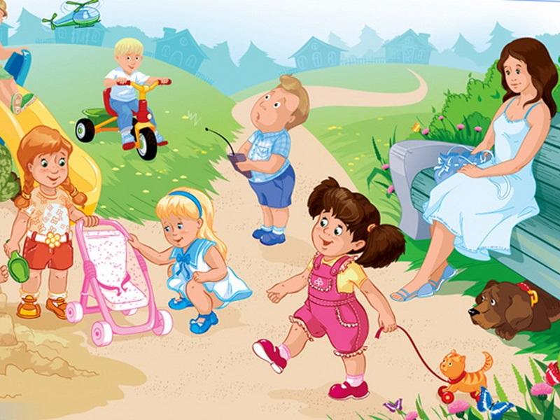 Прогулки в детском саду картинки (9)