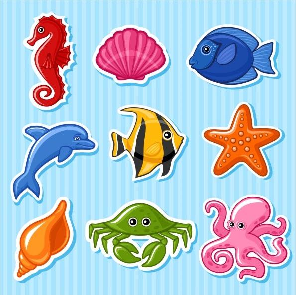 Рисуем морских обитателей с детьми - подборка рисунков (13)