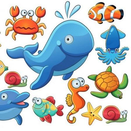 Рисуем морских обитателей с детьми - подборка рисунков (15)
