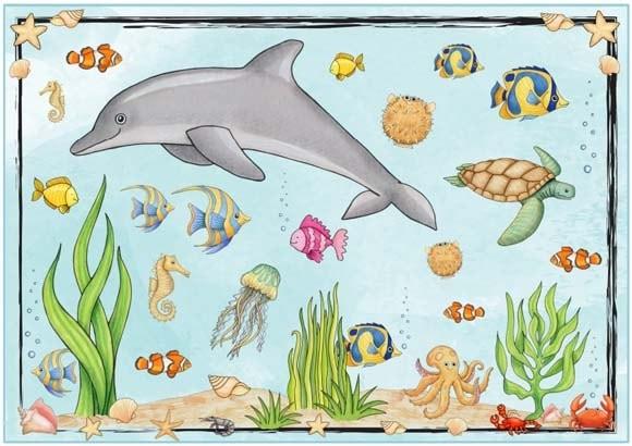 Рисуем морских обитателей с детьми - подборка рисунков (20)